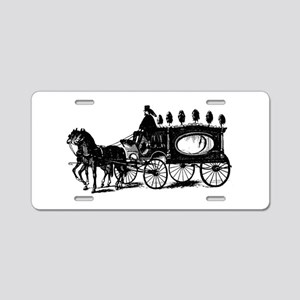Black Victorian Hearse Aluminum License Plate