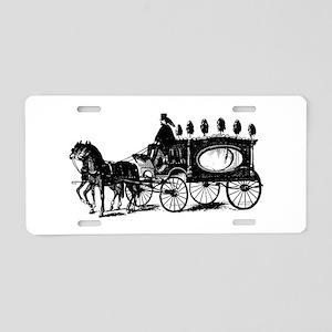 Black Victorian Hearse Aluminum License Plate