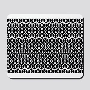 Snakes and Skulls Mousepad