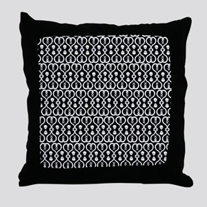 Snakes and Skulls Throw Pillow