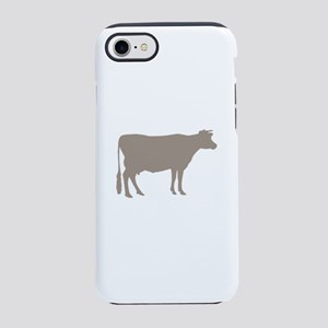 Cow: Beige iPhone 8/7 Tough Case