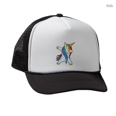 Dabbing Unicorn Kids Trucker hat