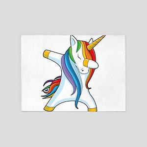 Dabbing Unicorn 5'x7'Area Rug