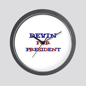 Devin for President  Wall Clock
