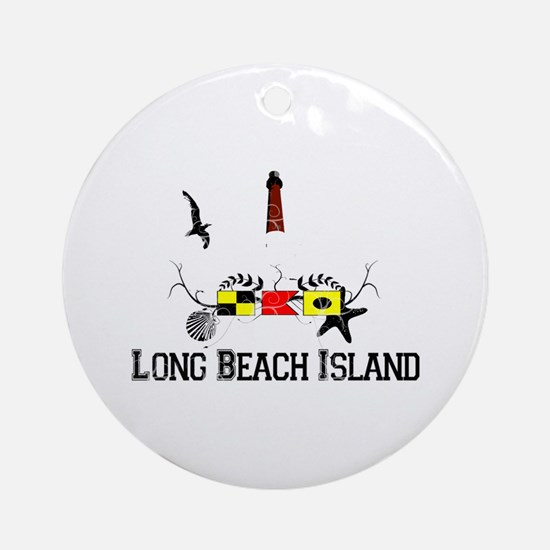 Barnegat Lighthouse Ornament (Round)