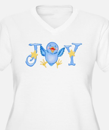 joy_bluebird Plus Size T-Shirt
