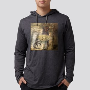 barn wood wheat horseshoe Long Sleeve T-Shirt