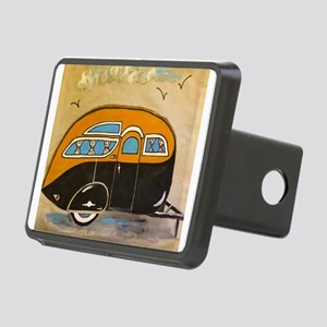 Chocolate Vintage Trailer Rectangular Hitch Cover