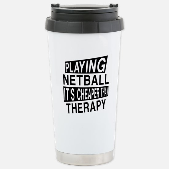 Awesome Netball Player Stainless Steel Travel Mug