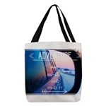 Adventure Awaits Polyester Tote Bag