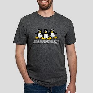 Burning Stare Penguins T-Shirt