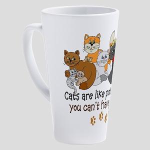 Cats are like potato chips 17 oz Latte Mug