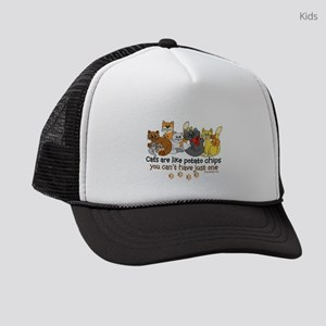 Cats are like potato chips Kids Trucker hat
