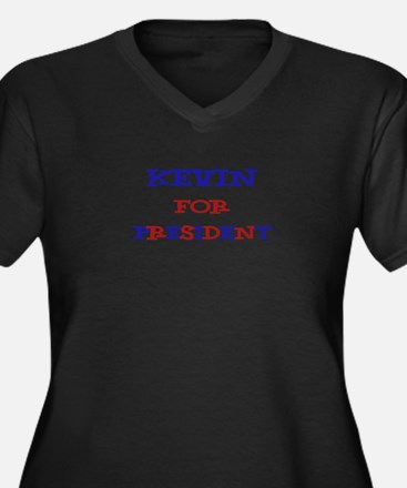 Kevin for President  Women's Plus Size V-Neck Dark