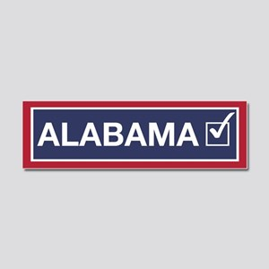 Alabama Flipped Blue Car Magnet 10 X 3