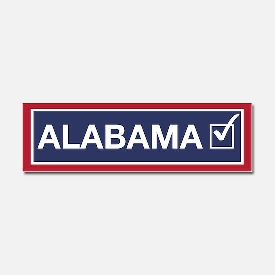 Alabama Flipped Blue Car Magnet 10 X 3
