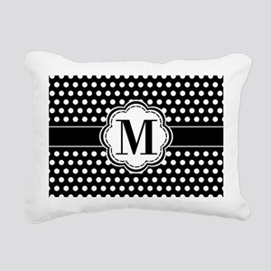 Black and White Chic Pol Rectangular Canvas Pillow
