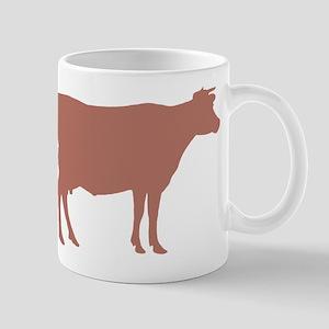 Cow: Rust Red 11 oz Ceramic Mug