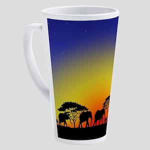 Elephant Crossing 17 oz Latte Mug