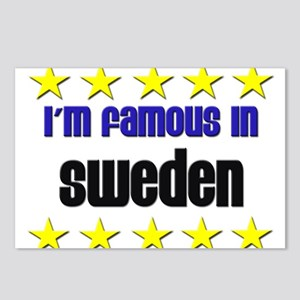 I'm Famous in Sweden Postcards (Package of 8)