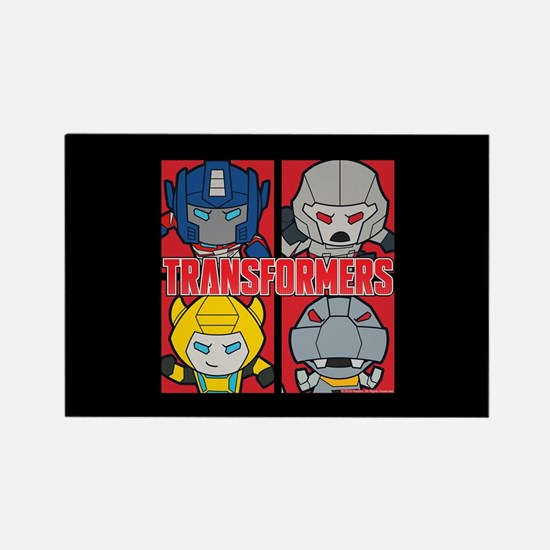 Tranformers Chibis Rectangle Magnet