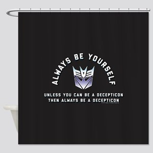 Transformers Always Be a Decepticon Shower Curtain