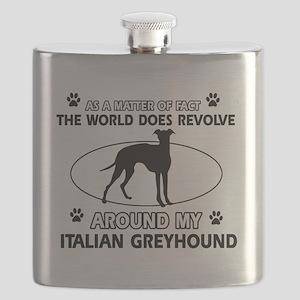 Italian Greyhound Design Flask