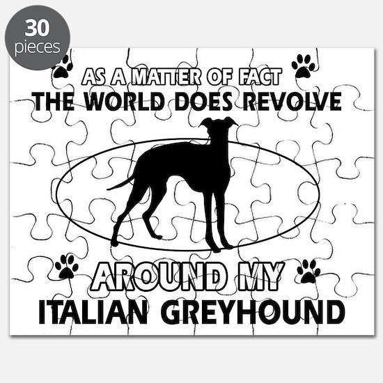 Italian Greyhound Design Puzzle