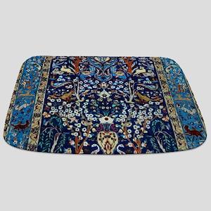 Blue Antique Vintage Persian Rug Bathmat