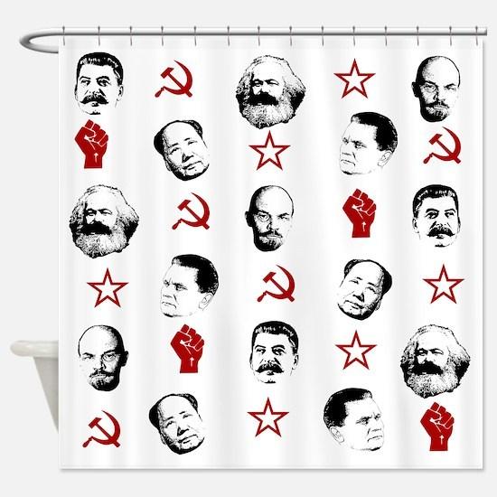 Funny Karl marx Shower Curtain