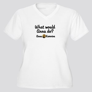 Anna Women's Plus Size V-Neck T-Shirt