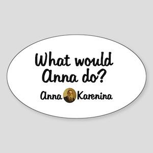 Anna Oval Sticker