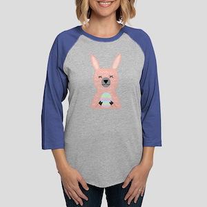 Pink Llama Holding Easter Egg Long Sleeve T-Shirt