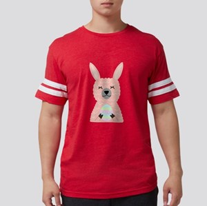 Pink Llama Holding Easter Egg T-Shirt