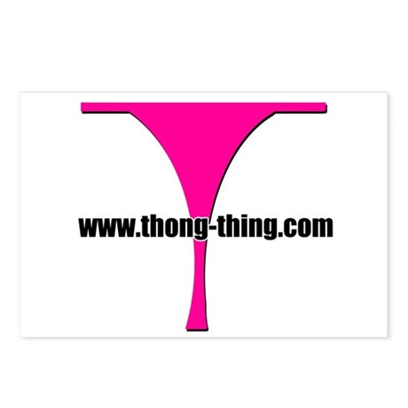 T Logo - Thong Thing Postcards (Package of 8)