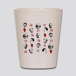 Communist Leaders Shot Glass