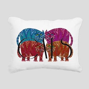 Whimsical CATS Rectangular Canvas Pillow