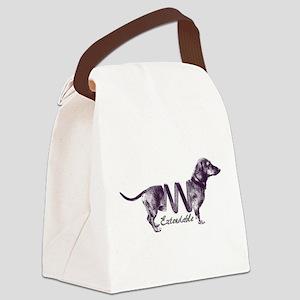 Extendable Dachshund Canvas Lunch Bag