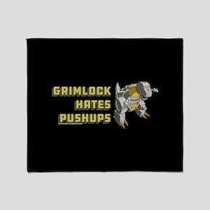 Transformers Grimlock Hates Pushups Throw Blanket