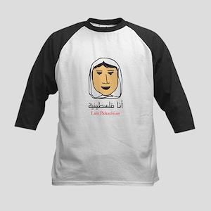 I am Palestinian - woman Kids Baseball Jersey