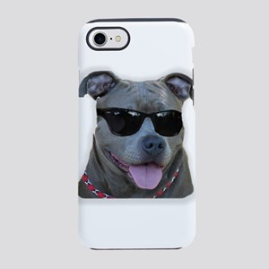 Pitbull in sunglasses iPhone 8/7 Tough Case
