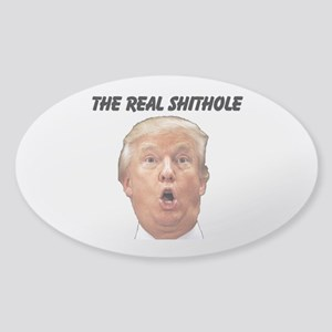 CREATE YOUR OWN GIFT SAYING/MEME Sticker (Oval)