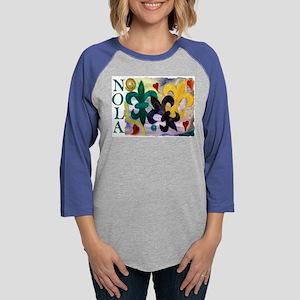 NOLA Mardi Gras Fleur de lis Long Sleeve T-Shirt
