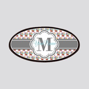 Vintage Painted Floral Personalized Monogram Patch