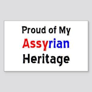assyrian heritage Sticker (Rectangle)