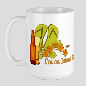 I'm On Island Time Large Mug