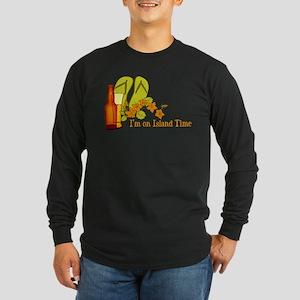 I'm On Island Time Long Sleeve Dark T-Shirt