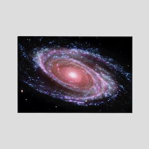 Pink Spiral Galaxy Rectangle Magnet