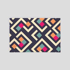 Retro Pattern 4' x 6' Rug