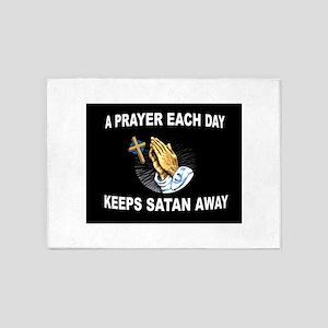 DAILY PRAYER 5'x7'Area Rug